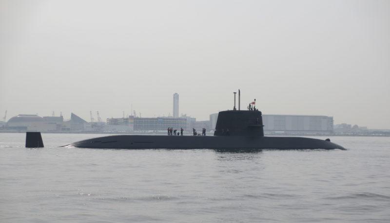 近くに潜水艦のドックがある?
