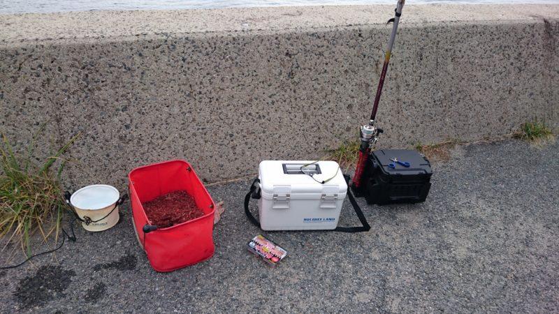 VS-7055でフカセ釣り