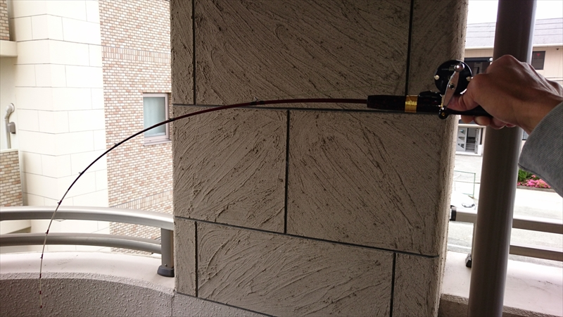 自分で作った根魚用の短竿